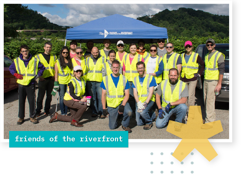fivestar volunteers with friends of the riverfront
