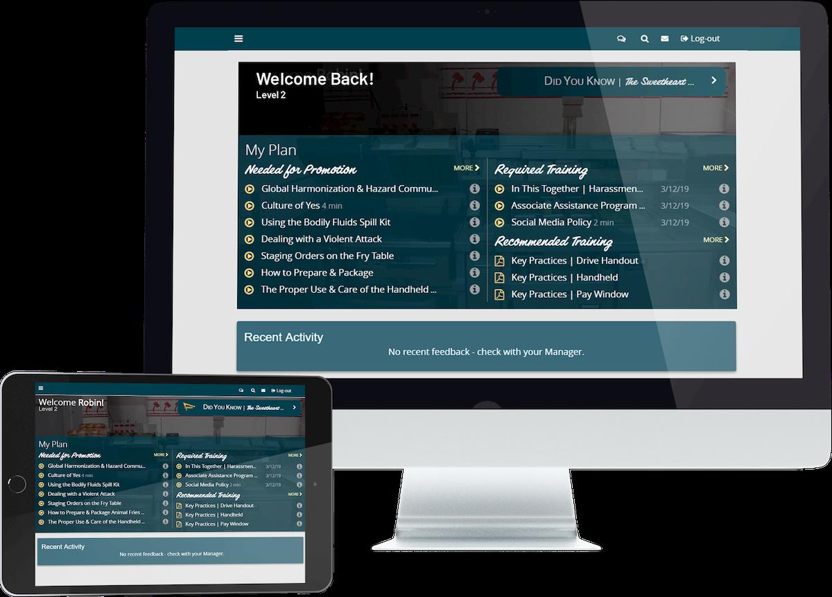 fivestar-developed learning management system