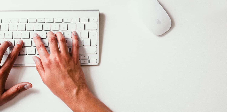 typing on a Mac keyboard