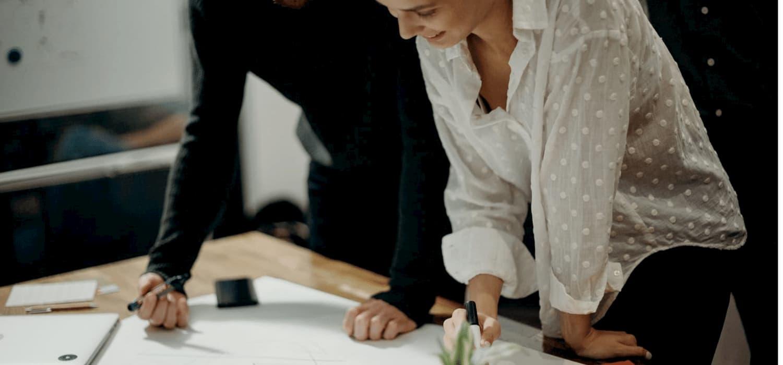 man and woman drawing