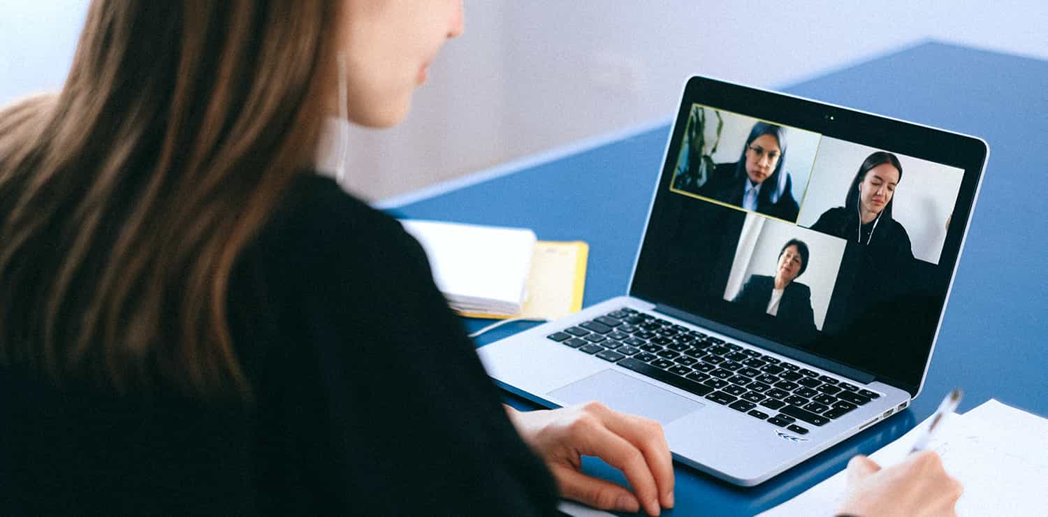 group on video call