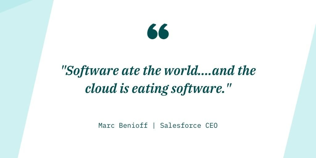 Quote from Salesforce SEO Marc Benioff