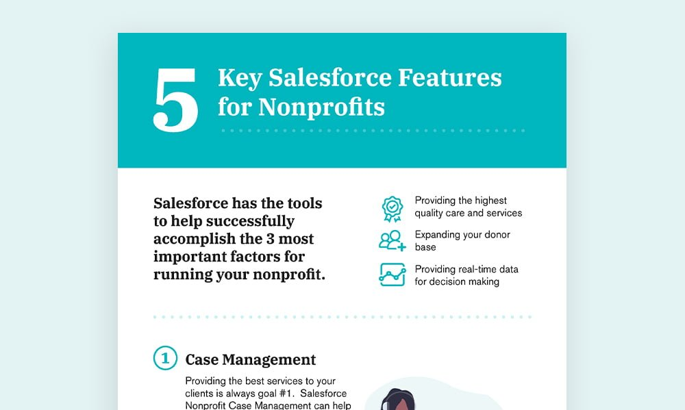 Salesforce features for nonprofits infograph thumbnail