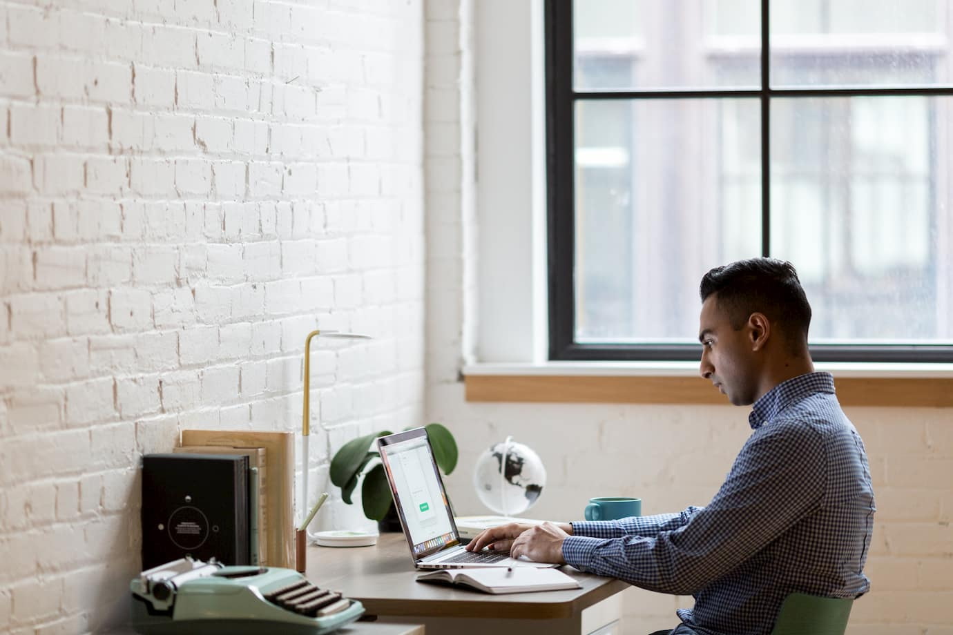 picture of a person using a computer